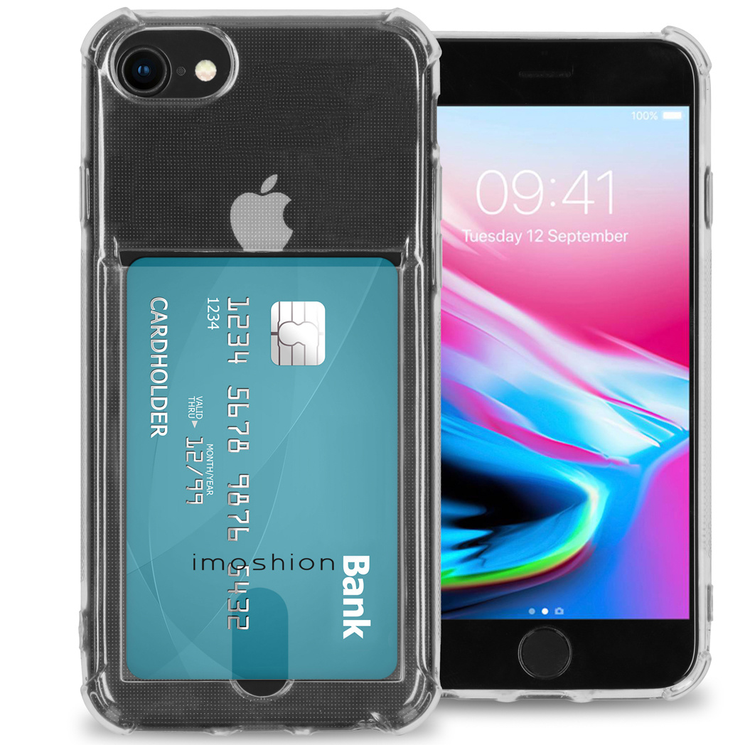 iMoshion Coque silicone avec support de passe iPhone SE (2020)/8 / 7