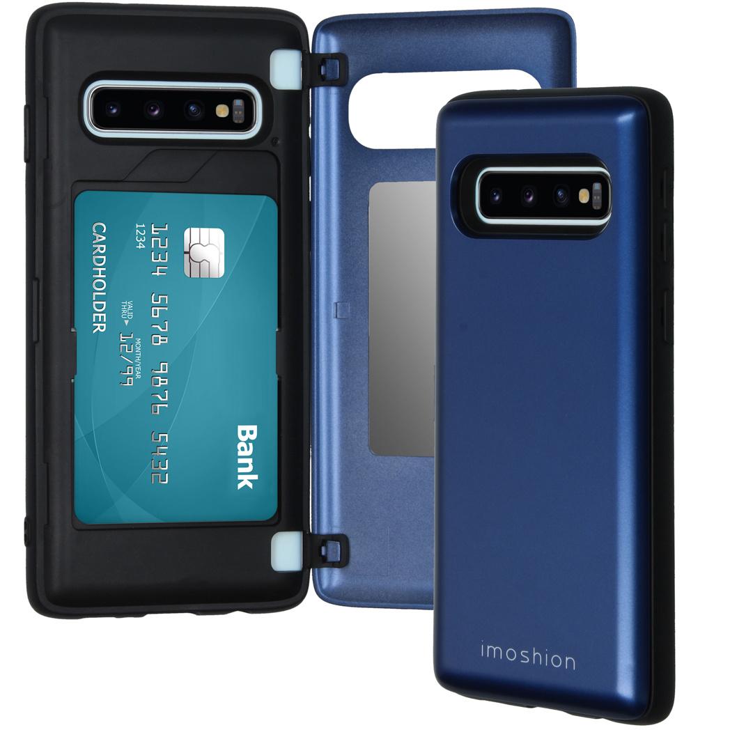 iMoshion Coque avec support de passe Samsung Galaxy S10 - Bleu foncé