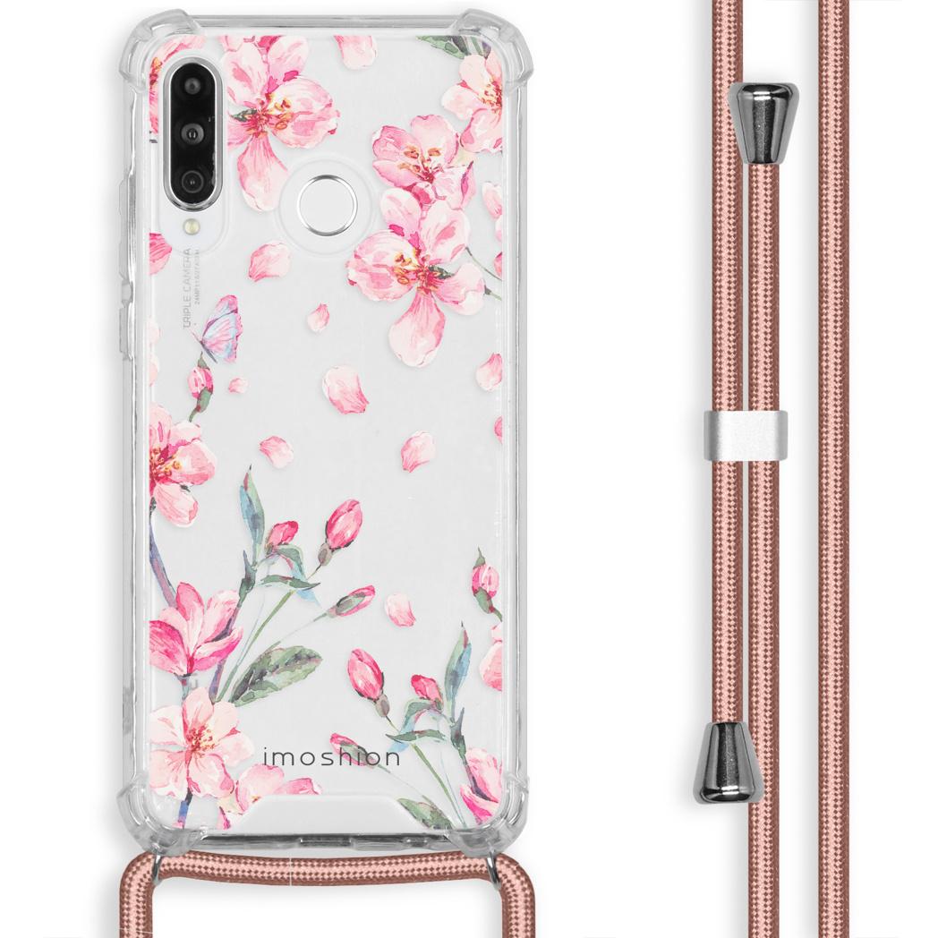 iMoshion Coque Design avec cordon Huawei P30 Lite - Fleur - Rose