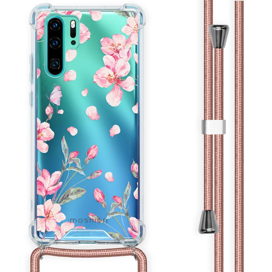 iMoshion Coque Design avec cordon Huawei P30 Pro - Fleur - Rose