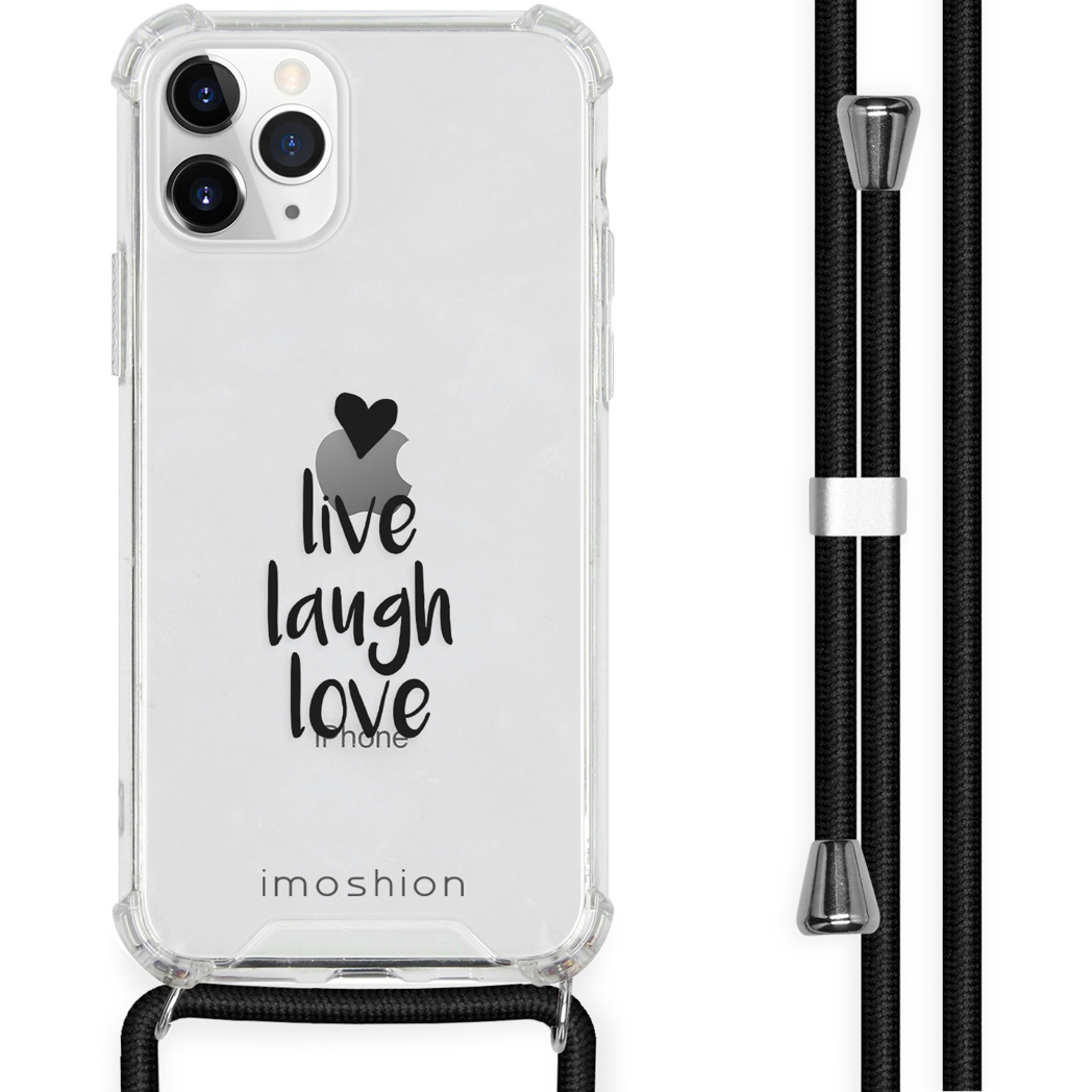 iMoshion Coque Design avec cordon iPhone 11 Pro - Live Laugh Love