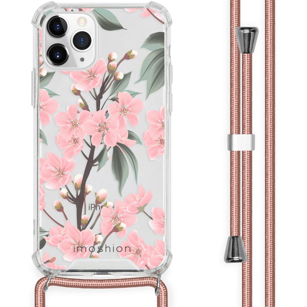 iMoshion Coque Design avec cordon iPhone 11 Pro - Fleur - Rose / Vert