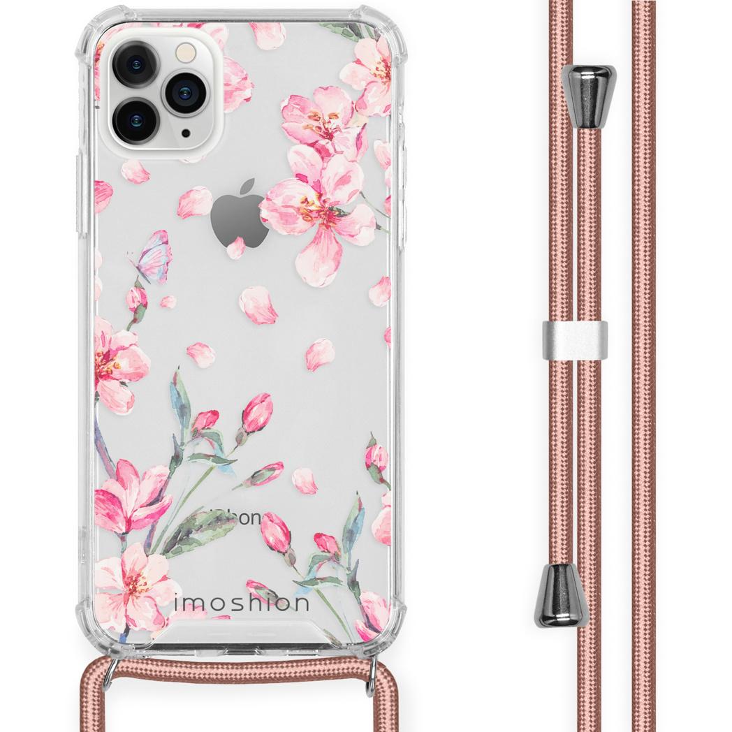 iMoshion Coque Design avec cordon iPhone 11 Pro Max - Fleur - Rose