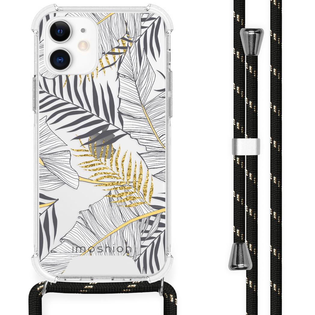 iMoshion Coque Design avec cordon iPhone 12 Mini - Feuilles