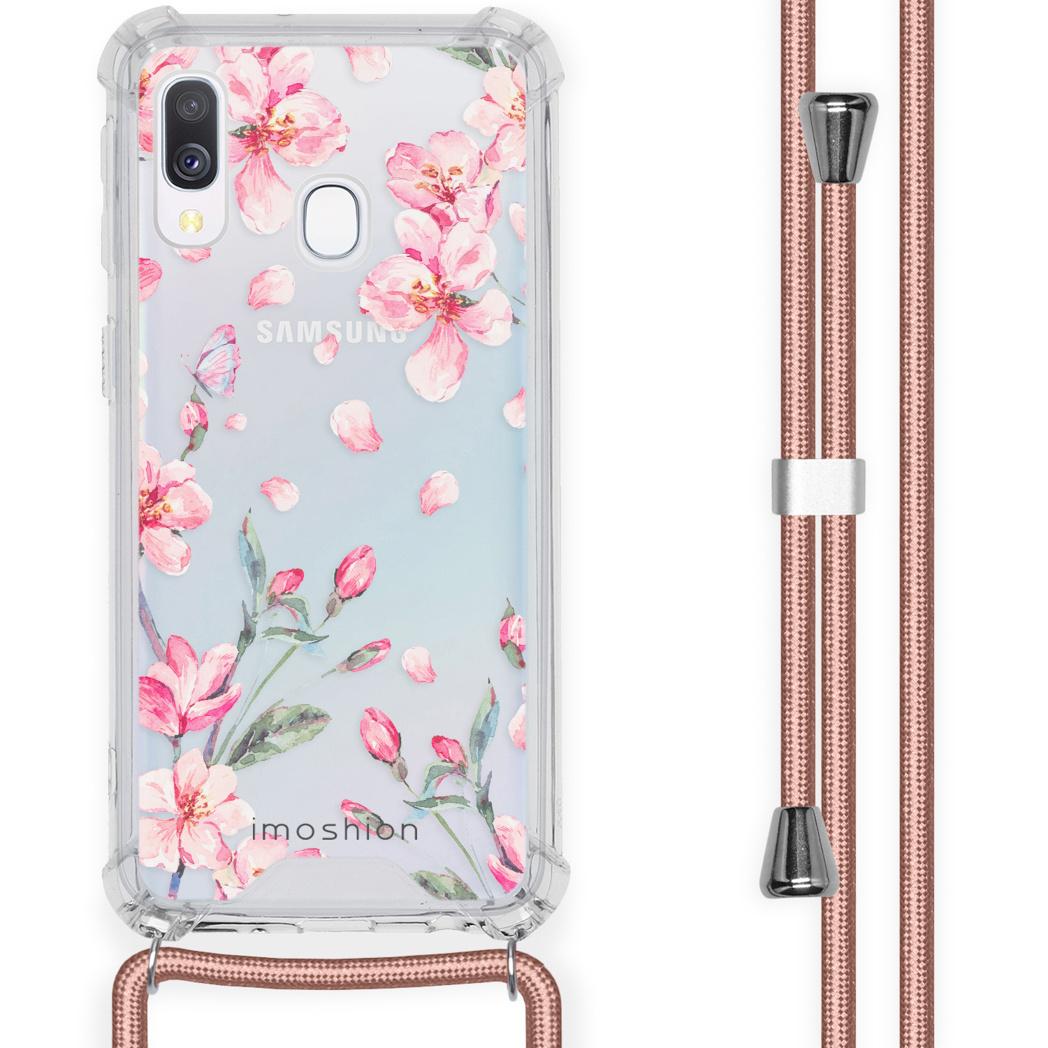 iMoshion Coque Design avec cordon Samsung Galaxy A40 - Fleur - Rose