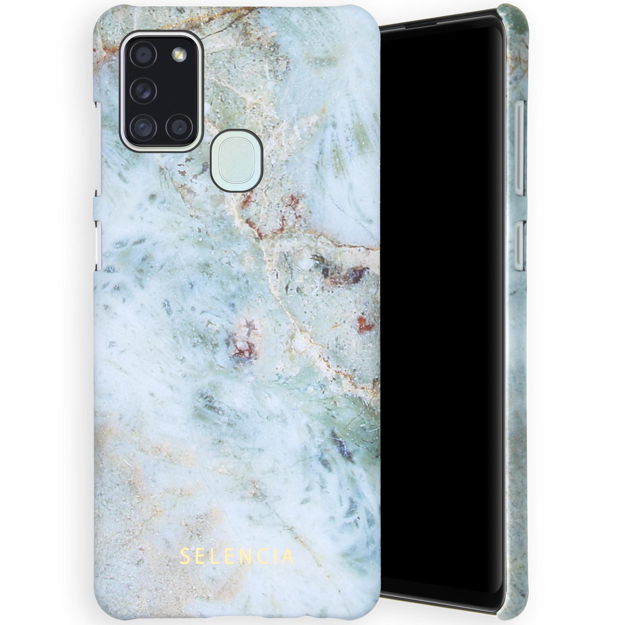 Selencia Coque Maya Fashion Samsung Galaxy A21s - Marble Blue