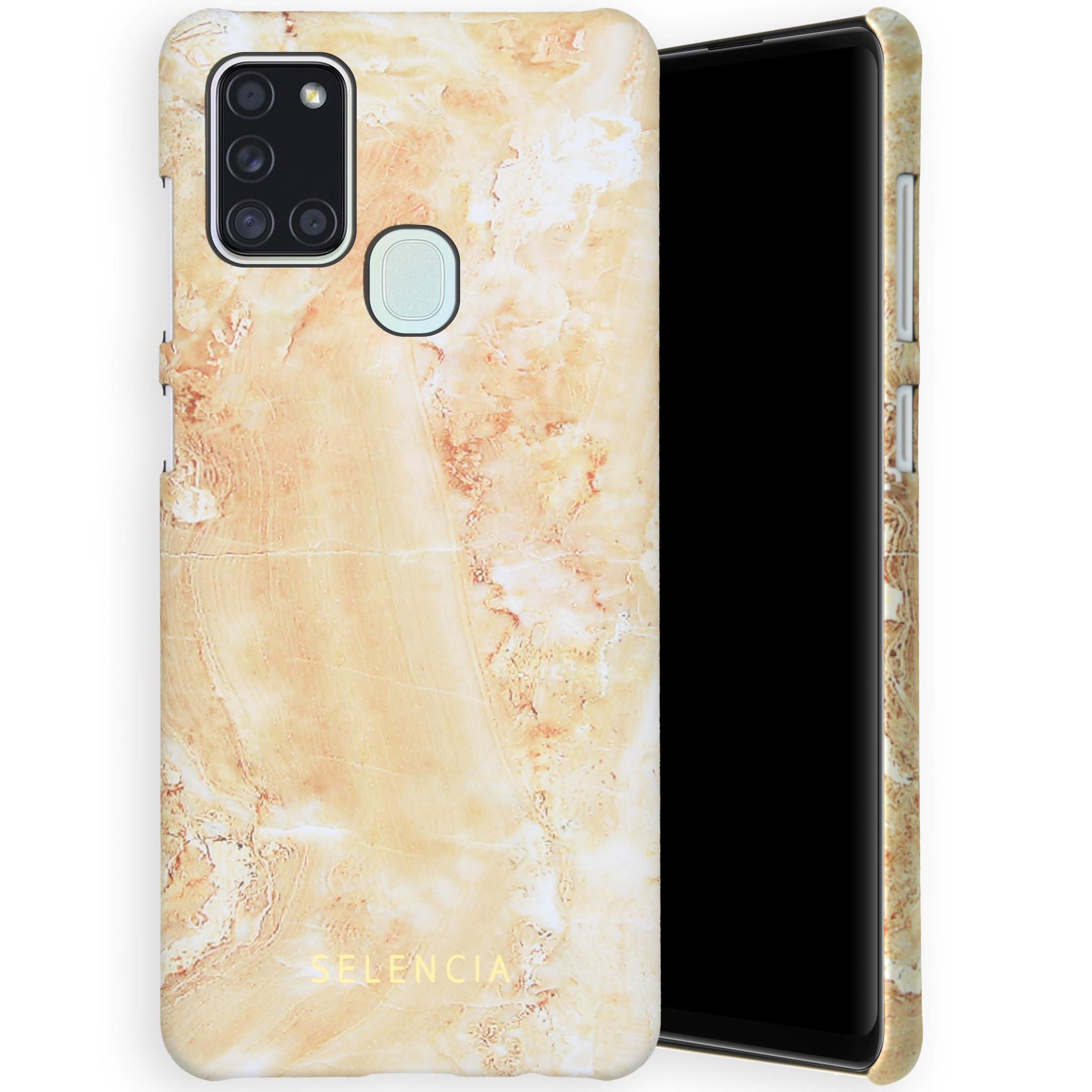 Selencia Coque Maya Fashion Samsung Galaxy A21s - Marble Sand