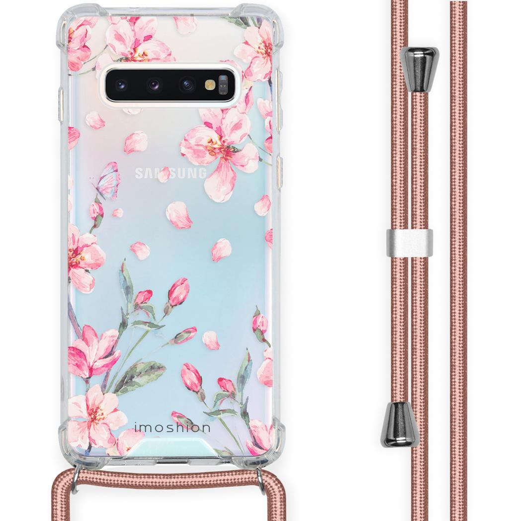 iMoshion Coque Design avec cordon Samsung Galaxy S10 - Fleur - Rose