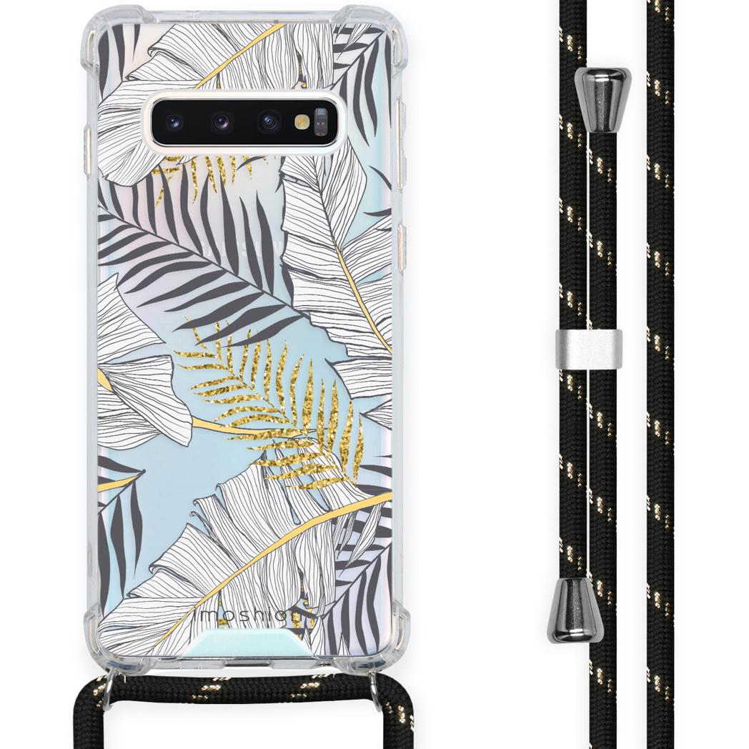 iMoshion Coque Design avec cordon Samsung Galaxy S10 - Feuilles