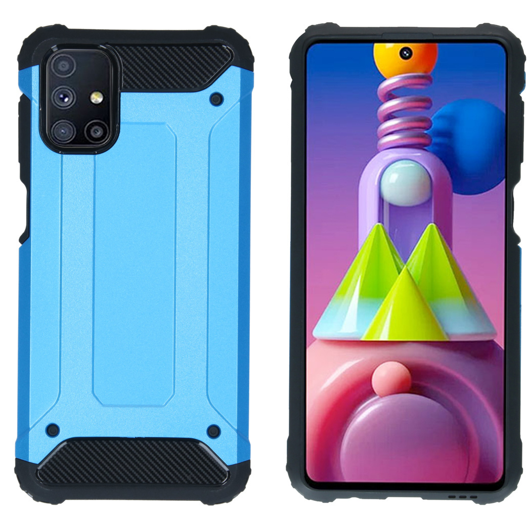 iMoshion Coque Rugged Xtreme Samsung Galaxy M51 - Bleu clair