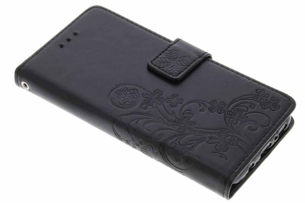 Etui de téléphone Fleurs de Trèfle Samsung Galaxy S8 - Noir