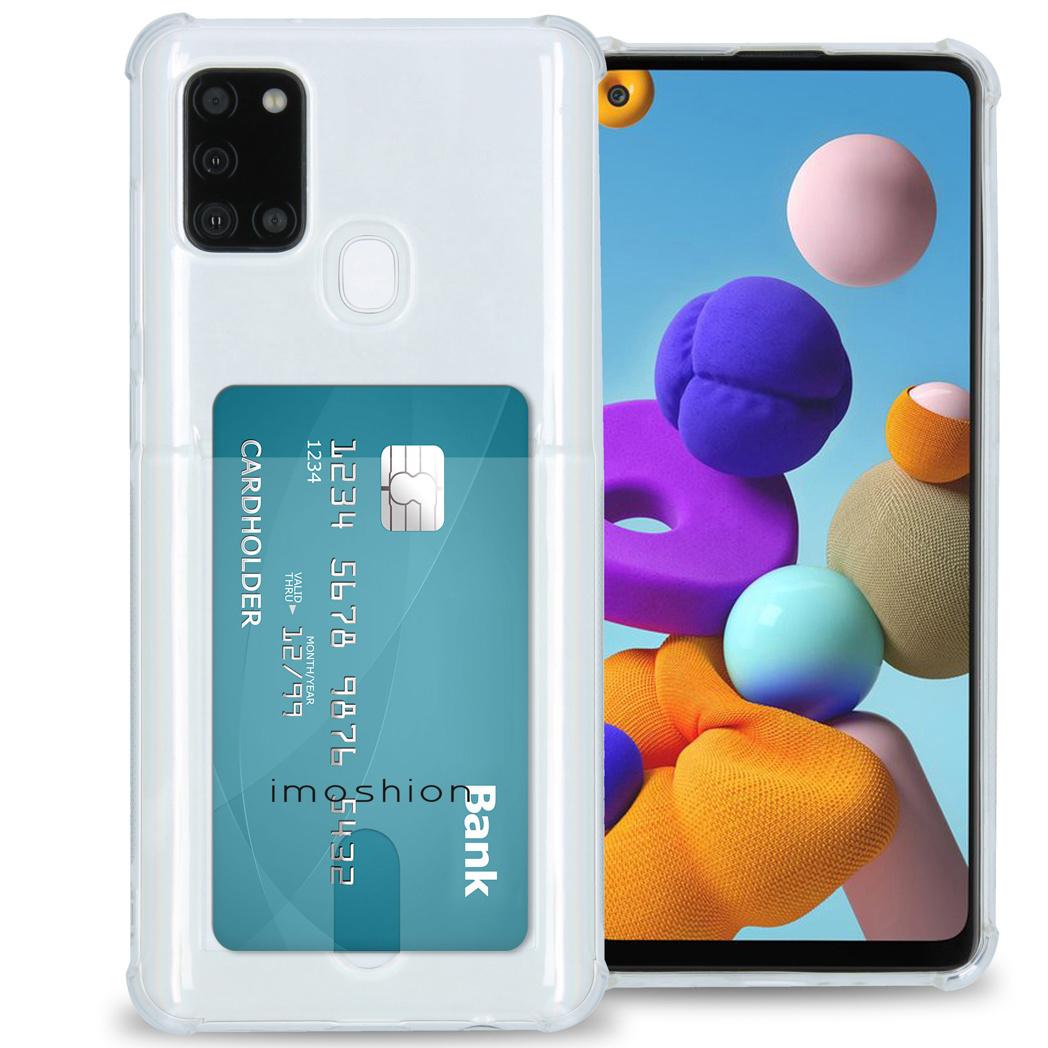 iMoshion Coque silicone avec support de passe Samsung Galaxy A21s