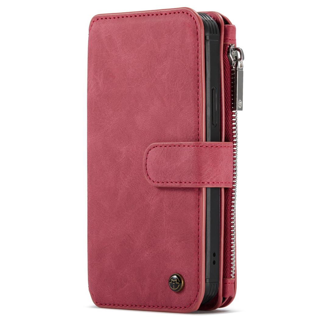 CaseMe Étui luxe 2-en-1 à rabat iPhone 12 Pro Max - Rouge