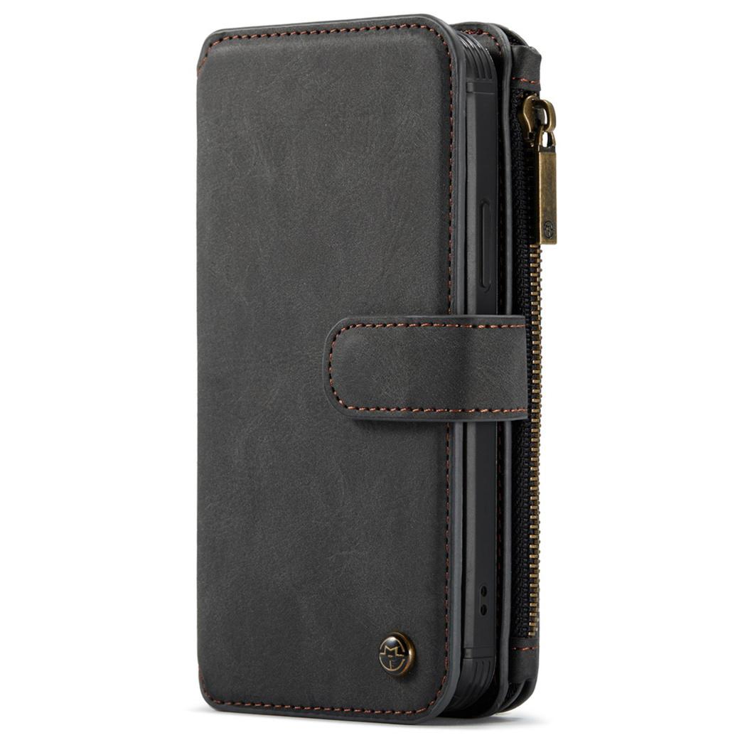 CaseMe Étui luxe 2-en-1 à rabat iPhone 12 Pro Max - Noir