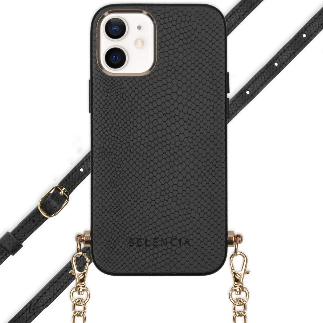 Selencia Coque Aina Serpent avec corde iPhone 12 Mini - Noir