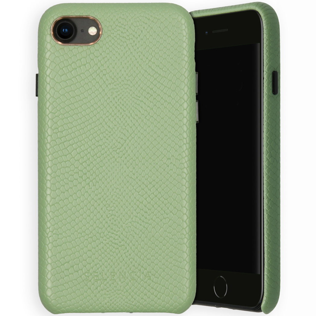 Selencia Coque Gaia Serpent iPhone SE (2020) / 8 / 7 / 6(s) - Vert