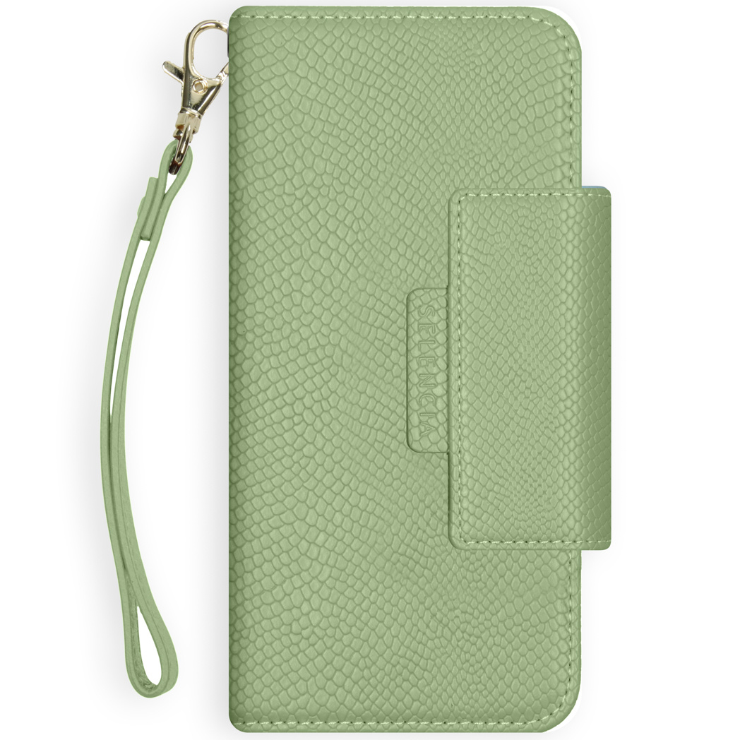 Selencia Etui portefeuille serpent amovible 2-en-1 iPhone 11 - Vert