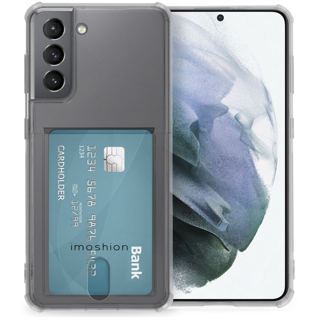 iMoshion Coque silicone avec support de passe Samsung Galaxy S21