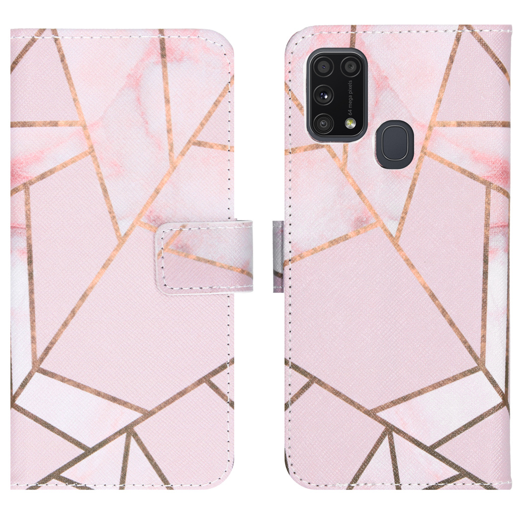 iMoshion Coque silicone design Samsung Galaxy M31 - Pink Graphic