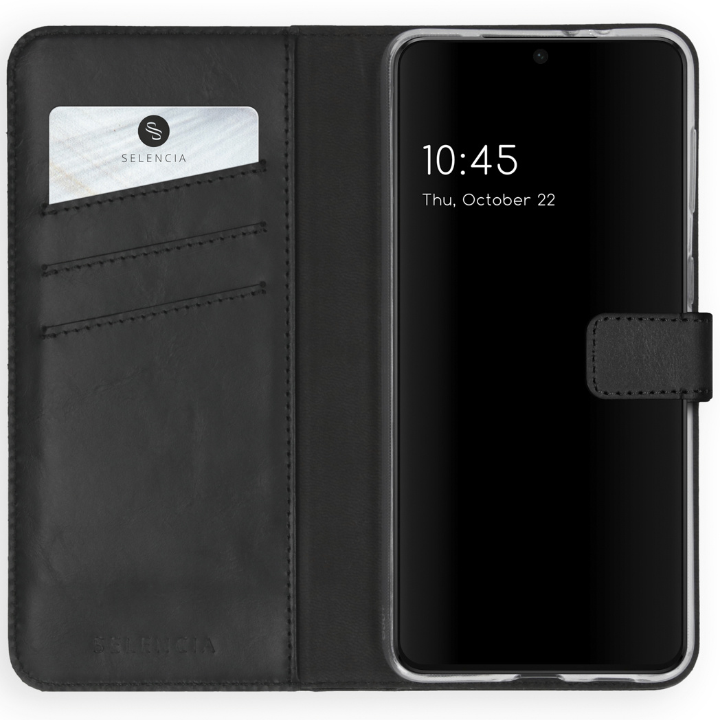 Selencia Étui de téléphone en cuir véritable Samsung Galaxy S21