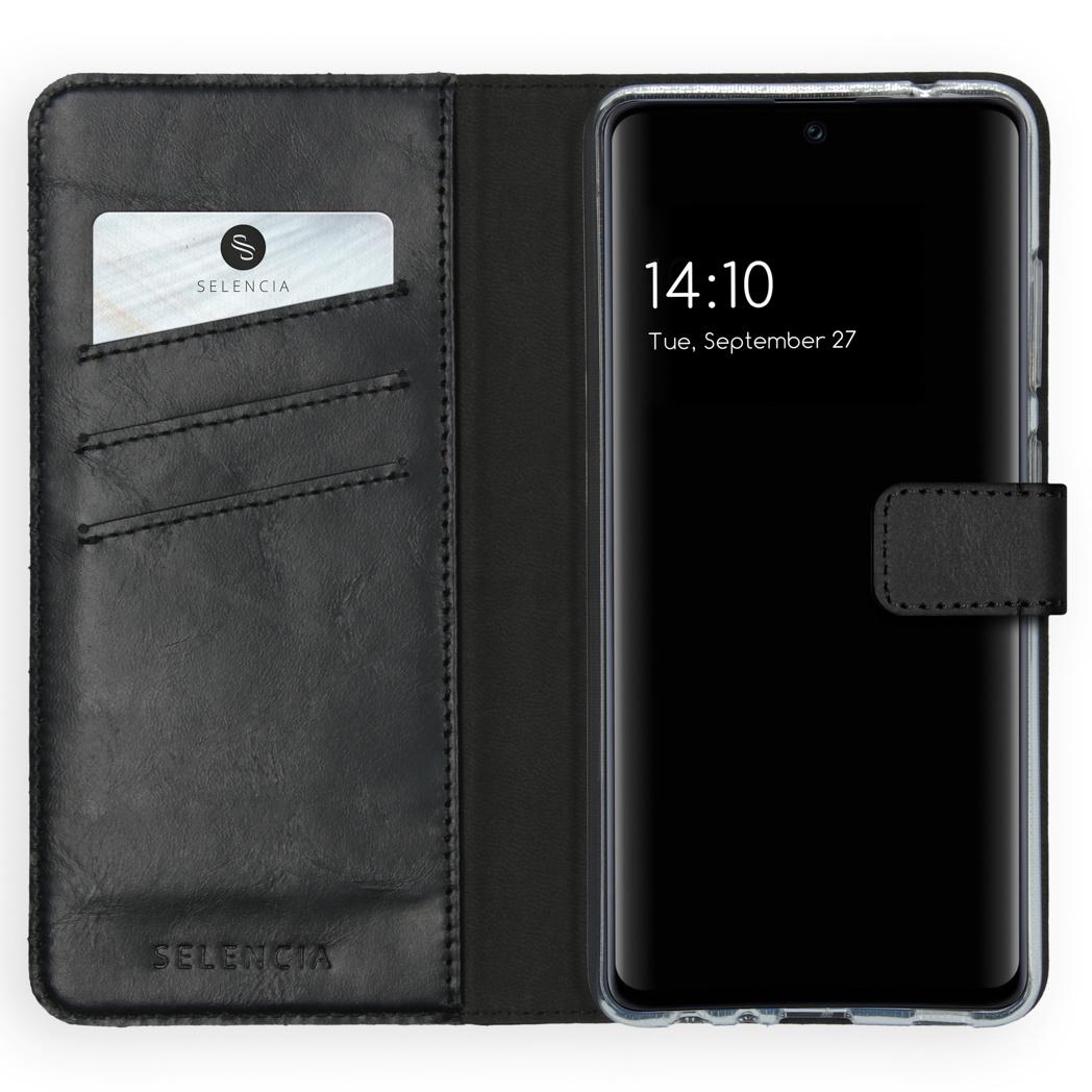 Selencia Étui de téléphone en cuir véritable Galaxy A52 (5G)/A52 (4G)