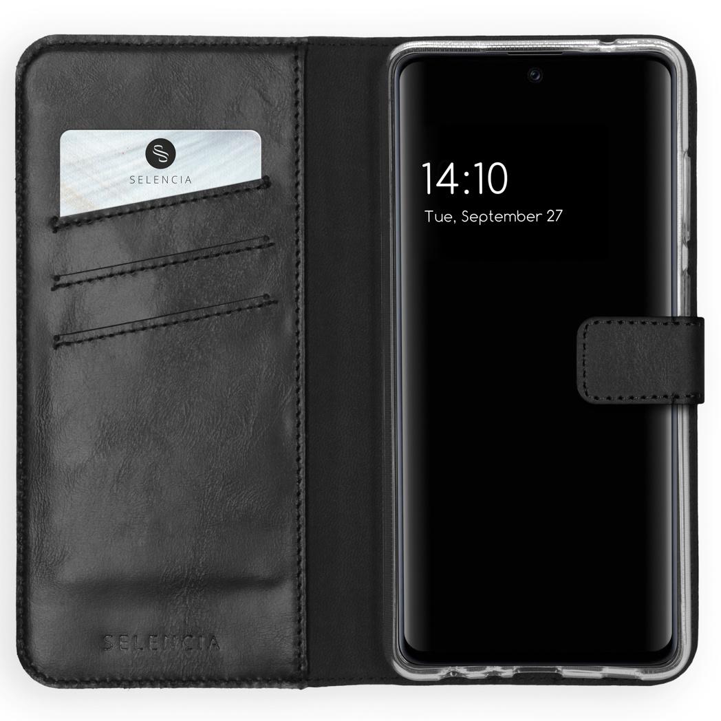 Selencia Étui de téléphone en cuir véritable Samsung Galaxy A72