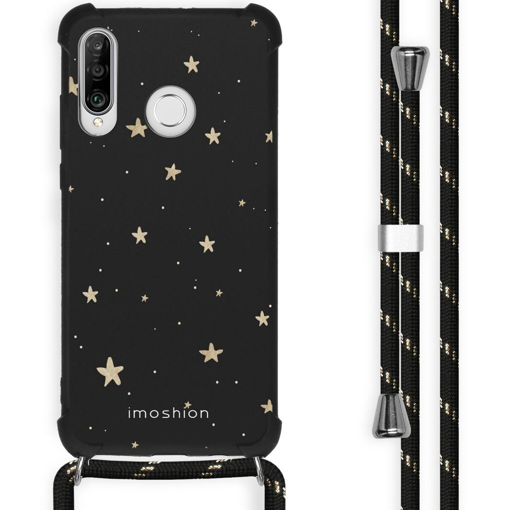 iMoshion Coque Design avec cordon Huawei P30 Lite - Etoiles - Noir