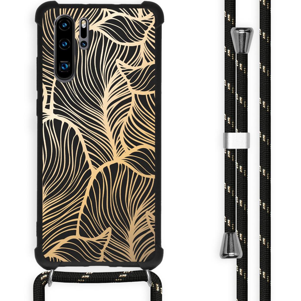 iMoshion Coque Design avec cordon Huawei P30 Pro - Feuilles - Dorée