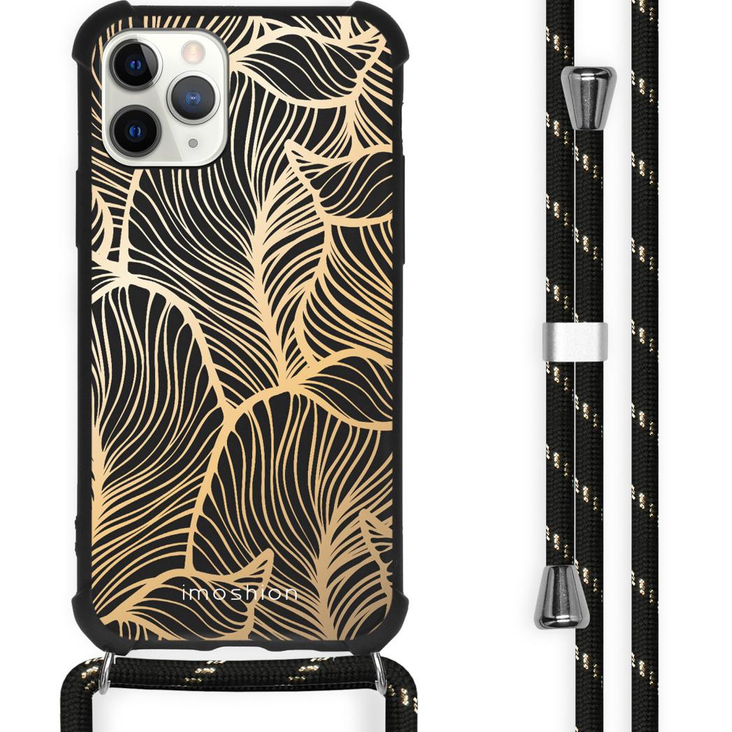iMoshion Coque Design avec cordon iPhone 11 Pro Max - Feuilles