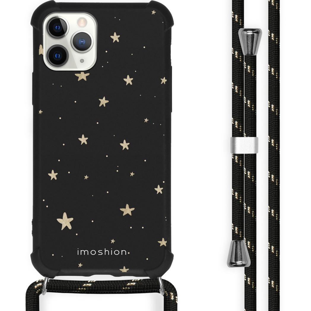 iMoshion Coque Design avec cordon iPhone 11 Pro Max - Etoiles - Noir