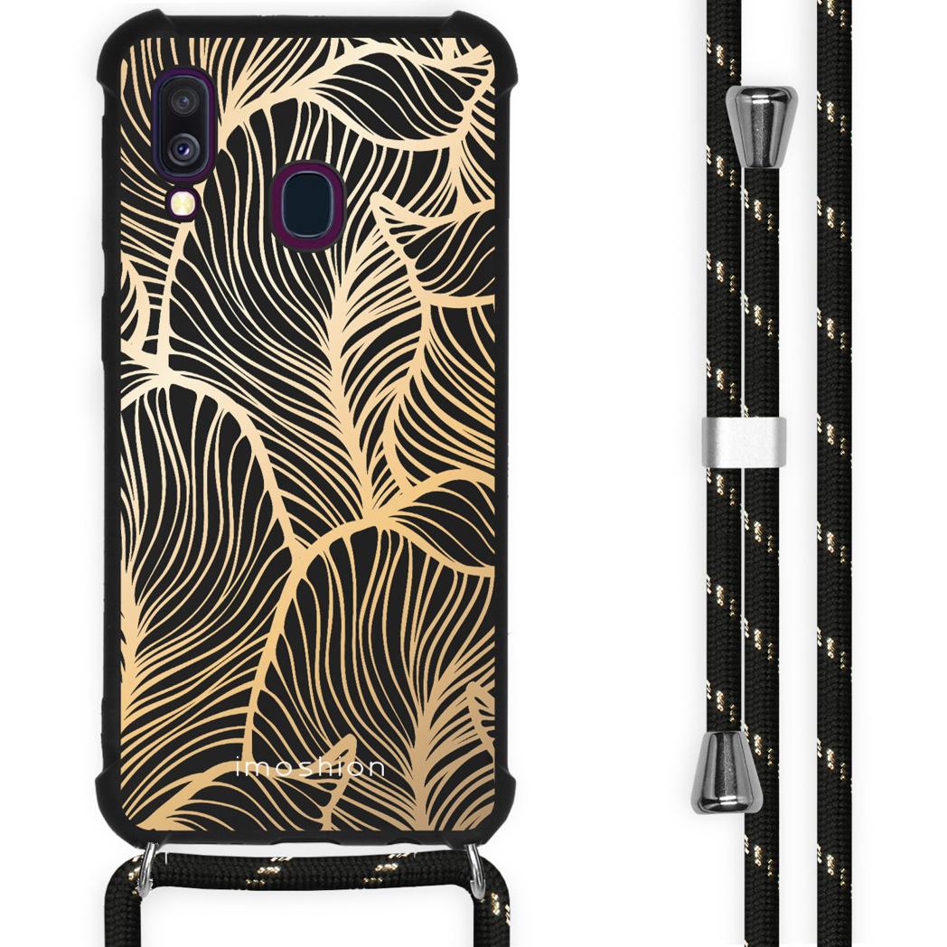 iMoshion Coque Design avec cordon Samsung Galaxy A40 - Feuilles