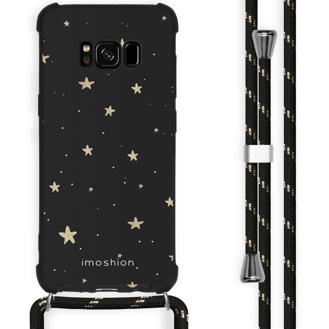 iMoshion Coque Design avec cordon Samsung Galaxy S8 - Etoiles - Noir