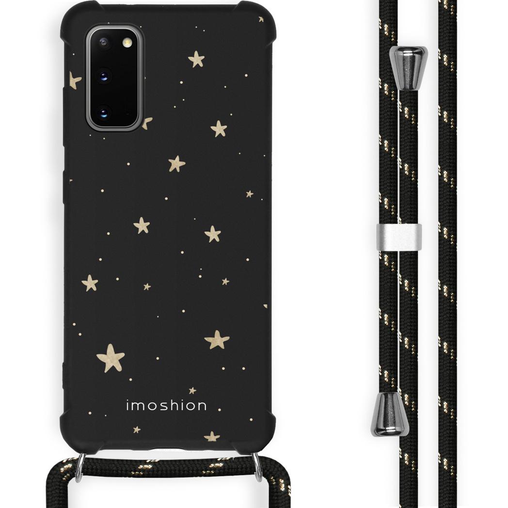 iMoshion Coque Design avec cordon Samsung Galaxy S20 - Etoiles - Noir