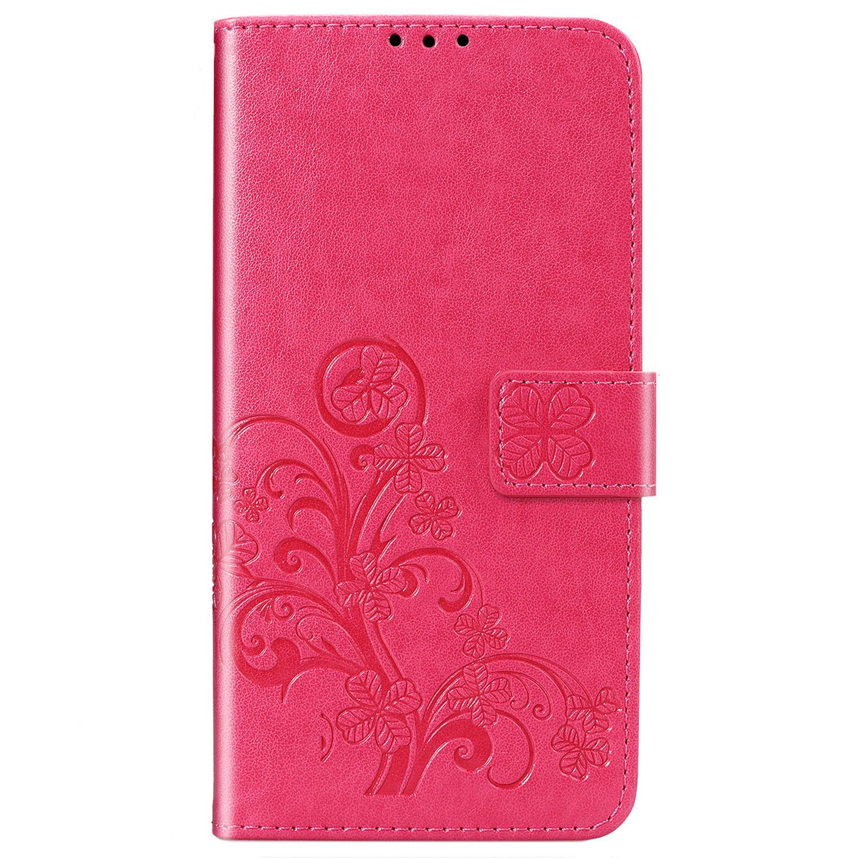 Etui de téléphone Fleurs de Trèfle Xiaomi Redmi 8
