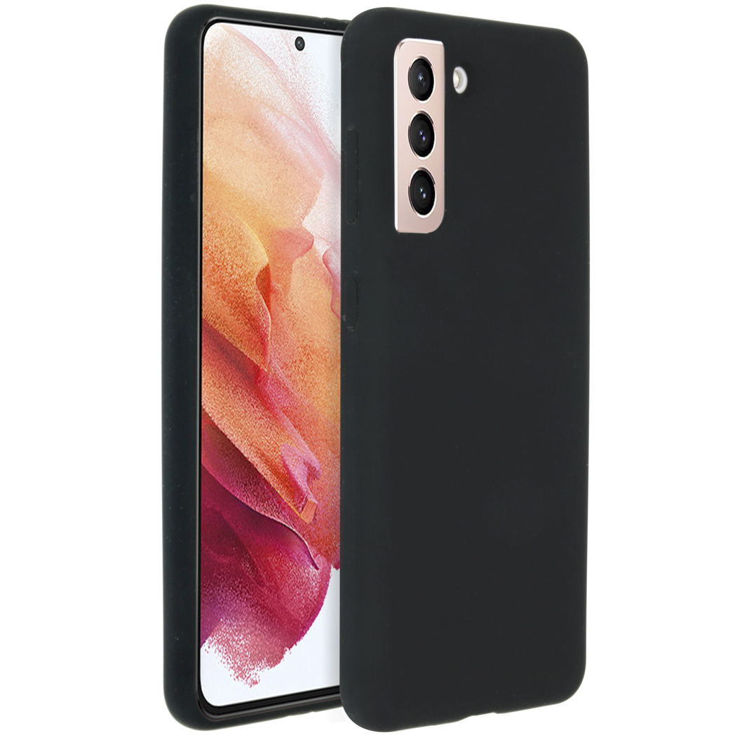 Accezz Coque Liquid Silicone Samsung Galaxy S21 - Noir