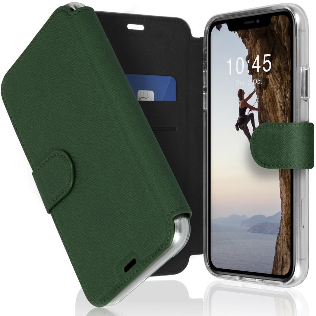 Accezz Étui de téléphone Xtreme Wallet iPhone 11 - Vert foncé