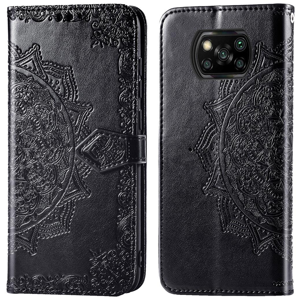 iMoshion Etui de téléphone portefeuille Mandala Xiaomi Poco X3 - Noir