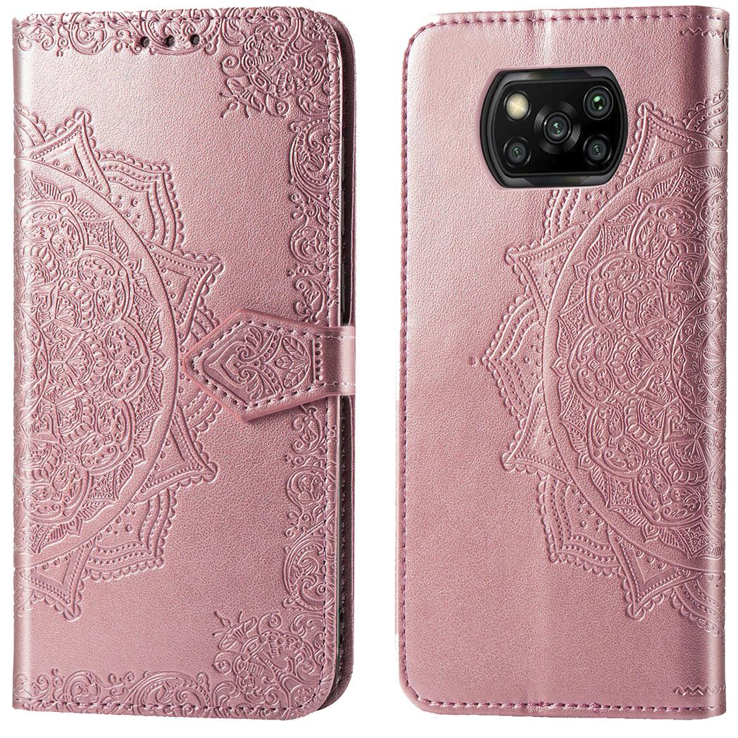 iMoshion Etui de téléphone portefeuille Mandala Xiaomi Poco X3 - Rose