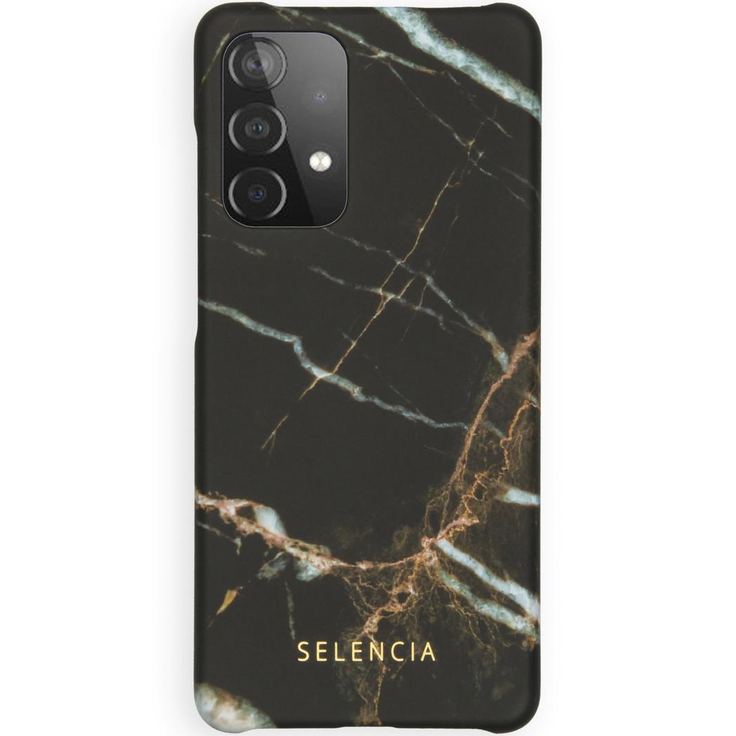 Selencia Coque Maya Fashion Galaxy A52 (5G) / A52 (4G) - Marble Black