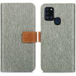 iMoshion Étui de téléphone portefeuille Canvas Luxe Galaxy A21s