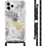 iMoshion Coque Design avec cordon iPhone 11 Pro - Feuilles - Noir