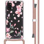 iMoshion Coque Design avec cordon Samsung Galaxy A41 - Fleur - Rose