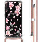 iMoshion Coque Design avec cordon Samsung Galaxy A50 - Fleur - Rose