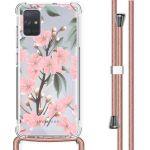 iMoshion Coque Design avec cordon Samsung Galaxy A71 - Fleur - Rose