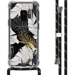 iMoshion Coque Design avec cordon Samsung Galaxy S9 - Feuilles - Noir