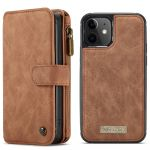CaseMe Étui luxe 2-en-1 à rabat iPhone 12 Mini - Brun