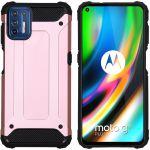 iMoshion Coque Rugged Xtreme Motorola Moto G9 Plus - Rose Champagne