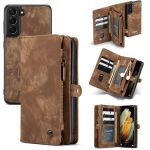 CaseMe Etui de téléphone de luxe en cuir 2 en 1 Samsung Galaxy S21