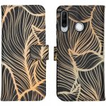 iMoshion Coque silicone design Huawei P30 Lite - Golden Leaves
