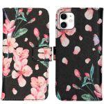 iMoshion Coque silicone design iPhone 11 - Blossom Watercolor Black